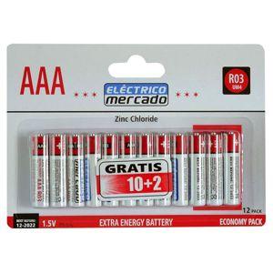 Batérie ZnCl AAA R03 12ks