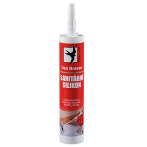 Den Braven Sanitárny Silikón Transparent Red Line 280ml
