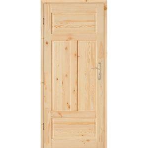 Dvere vnútorné NOVA 4P  80L s hŕčkami nelakované zámok na kľúč