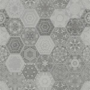 Gresova dlažba Patchwork Hexagon Grey 60/60