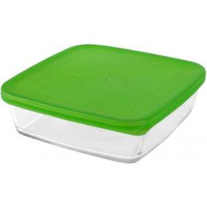Misa štvorcová so zeleným poklopom 21cm