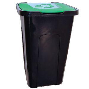 Nádoba na odpady 50 l na triedenie, zelená