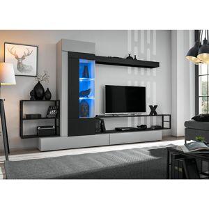 Obývacia stena Rebel čierna/perla gray
