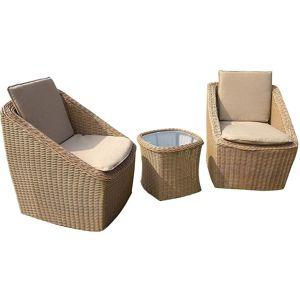 Súprava záhradného nábytku 2+1 hnedá BNS-100107HR
