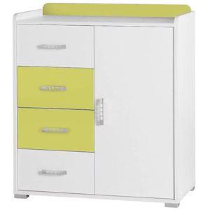 Systémový nábytok  komoda Nemo 6 biela/zelená