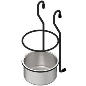 Závesný košík pohár malý čierny MAT